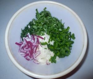 jicama,jalapeños,onion, cilantro, chives