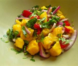 mango and padron pepper sala 2