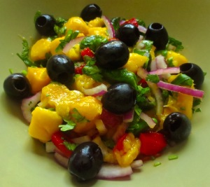 mango and padron pepper salad