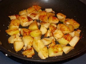 browned potatoes