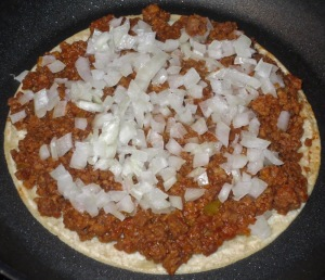 meatless crumbles tostada 3