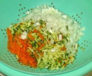 onions, zucchini & carrots