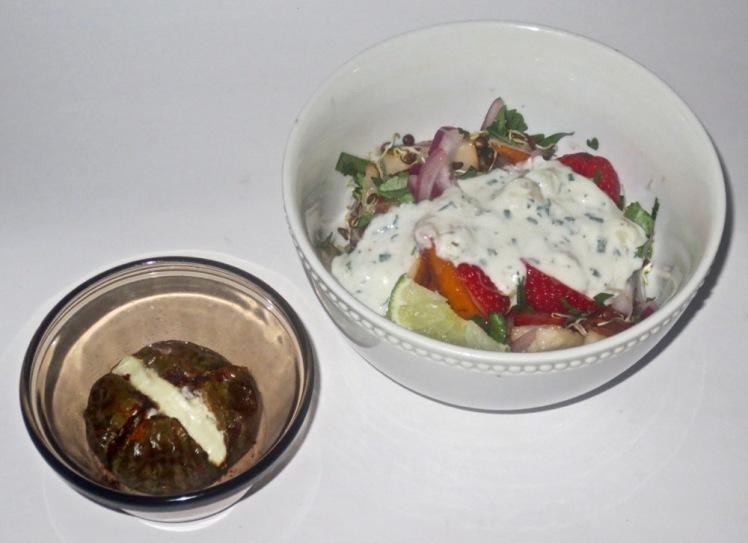 eggplant & salad