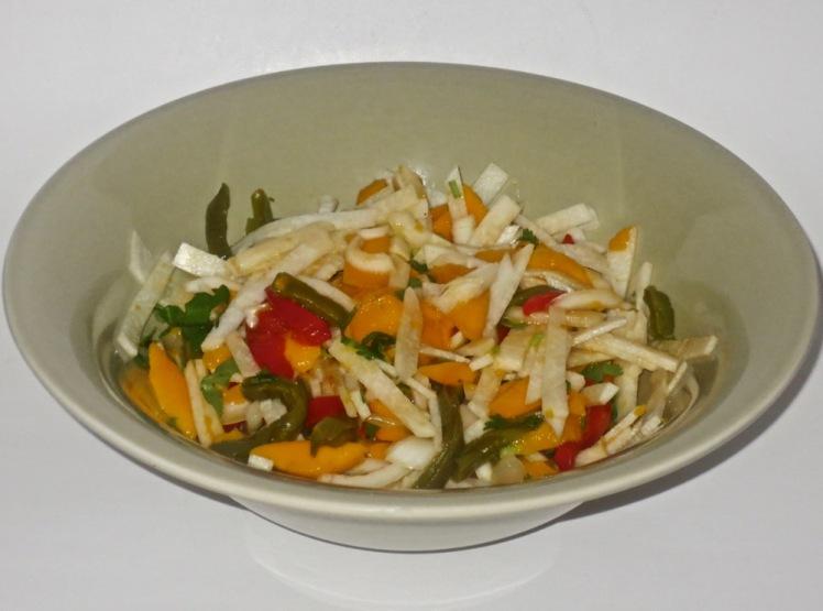 jicama mango nopalito salad