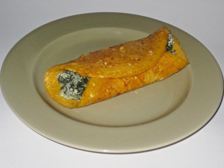poke & goat cheese omelet