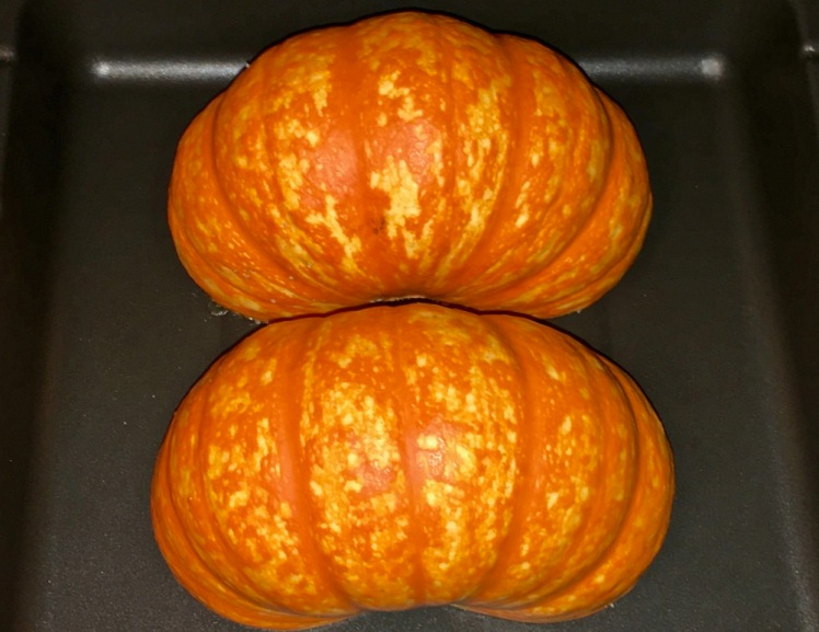 pumpkin with hickory nut glaze