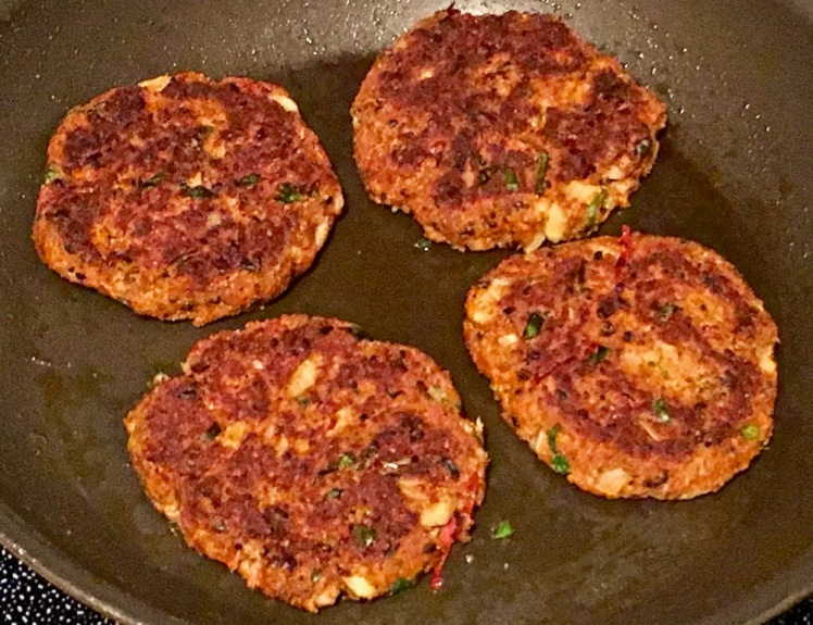 soy bean patties