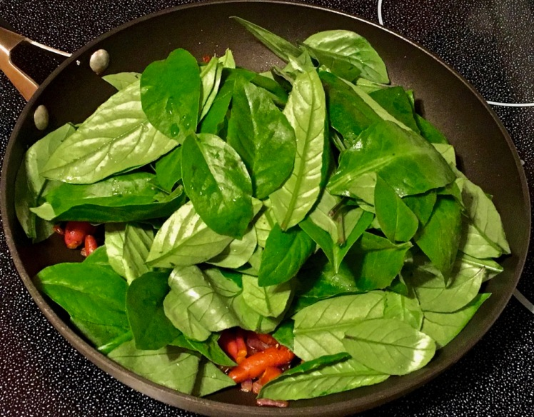 sweet potatoes & longevity spinach