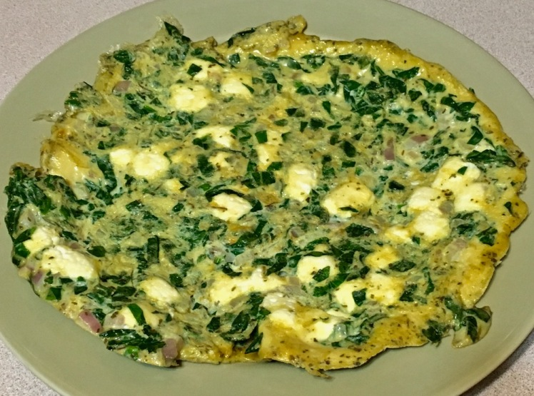 paneer & spinach omelet