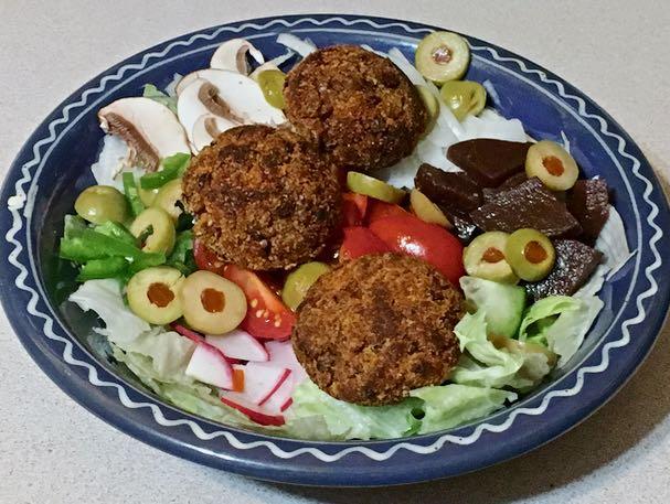 lentil croquets & salad