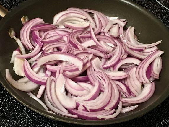 onion, mushroom & nopalito galette