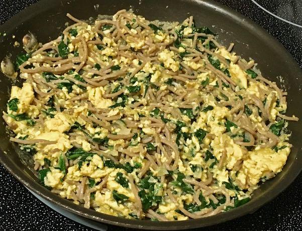 soba noodles scramble