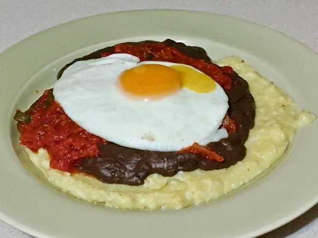 huevos rancheros polenta