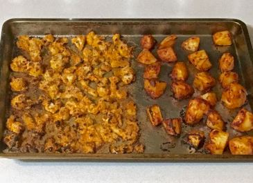roasted cauliflower & potatoes