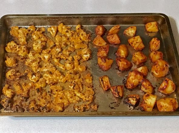 roasted cauliflower & potatoes