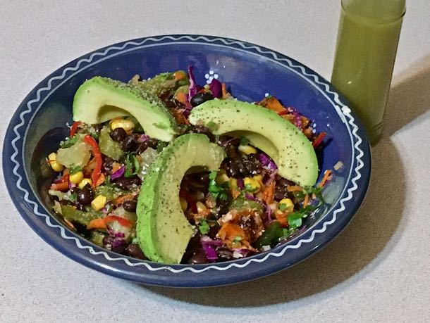 black bean nopalito salad