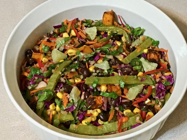 black bean nopalitos salad