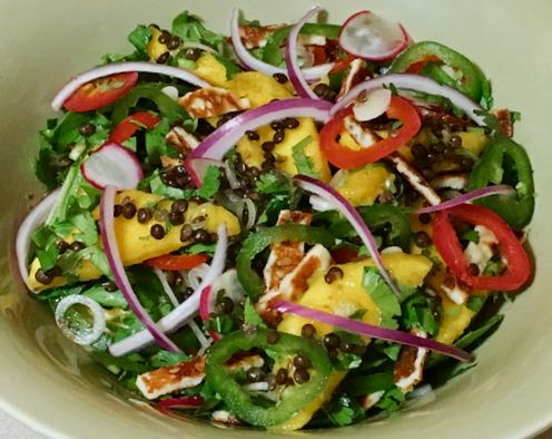 lentil mango salad
