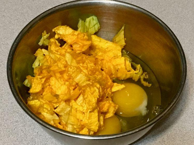 fenugreek, radish pod & squash blossom frittata