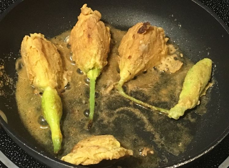 stuffed squash blossoms
