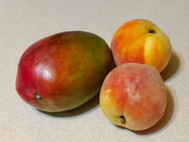 mango and peach cobbler
