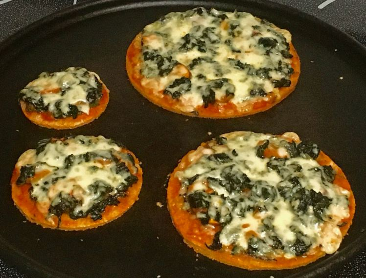sweet potato greens pizza