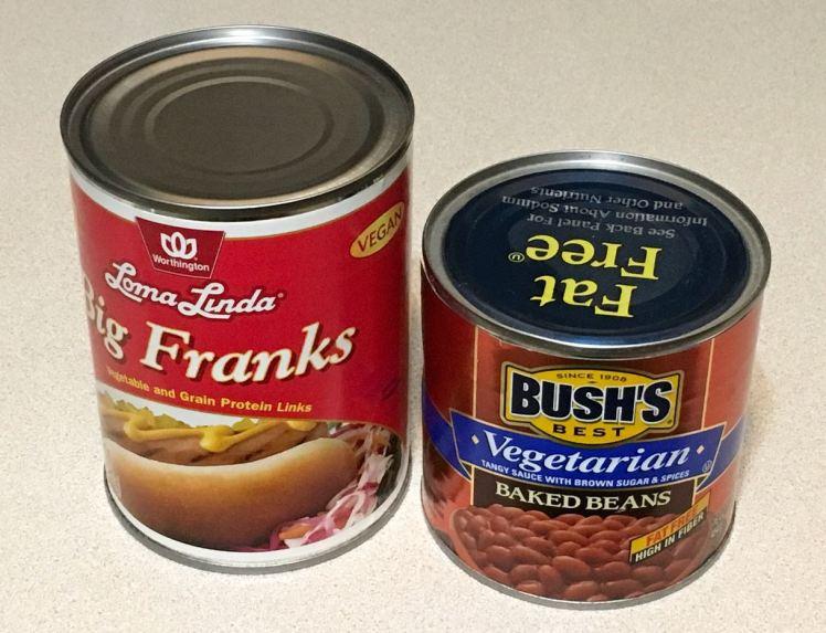 Beans. franks & sauerkraut