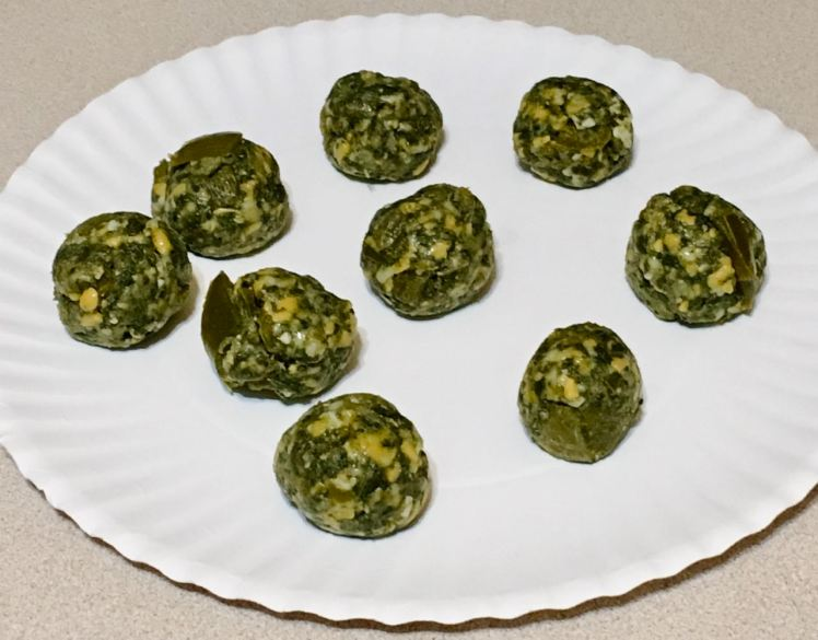 cheesy spinach bombs