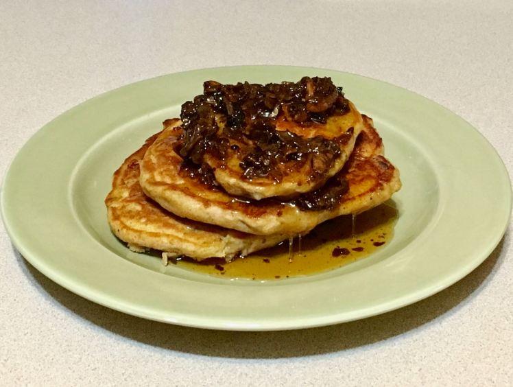 hickory nut banana pancakes