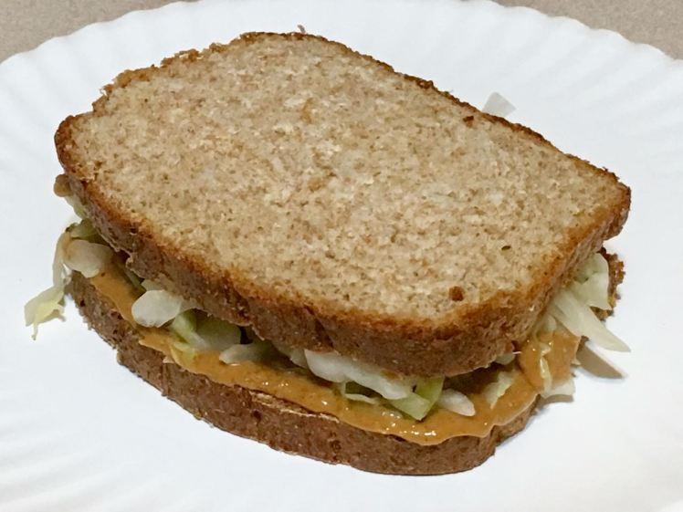peanut butter sauerkraut sandwich