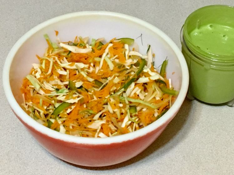 slaw with dressed up dressing