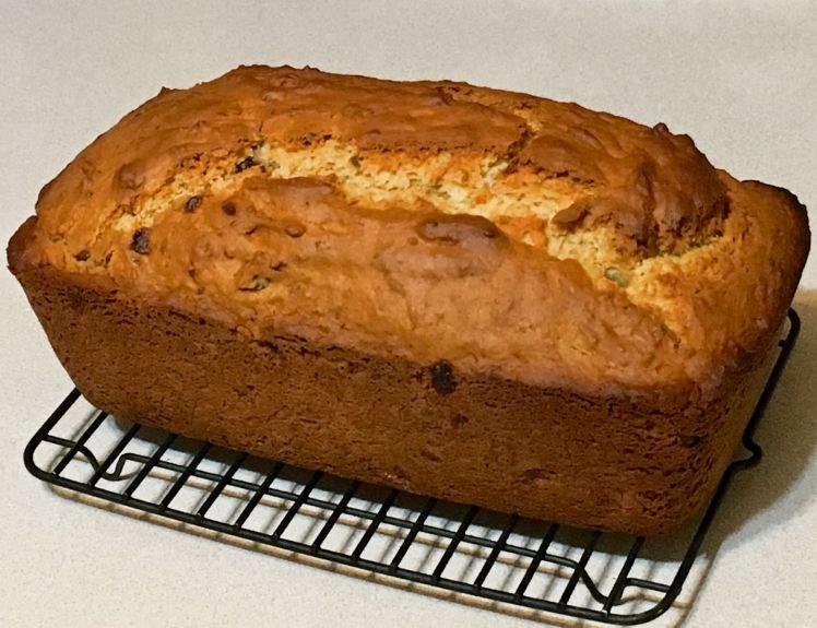 banana hickory nut maple syrup bread