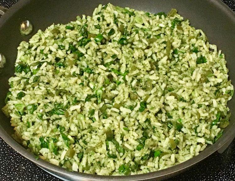 cilantro/lime/jalapeño rice