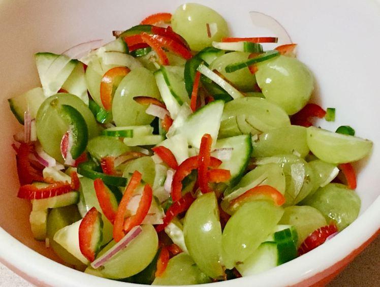 Grapes & Cucumber Salad