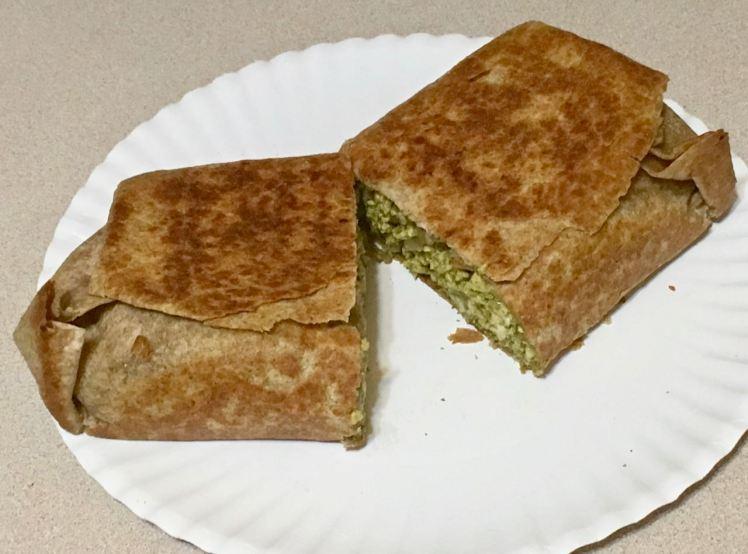 moringa tofu burrito