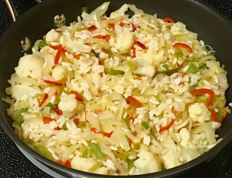 sauerkraut/cauliflower/rice