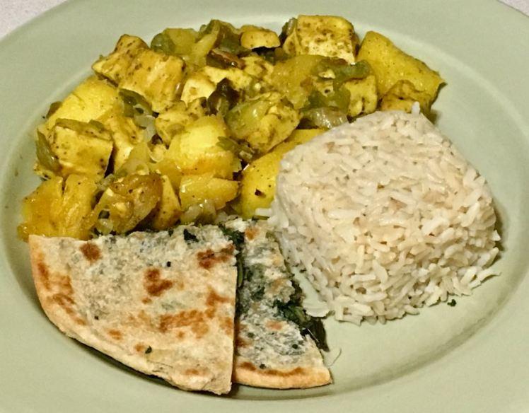 ramps, mango, hatch chiles & tofu