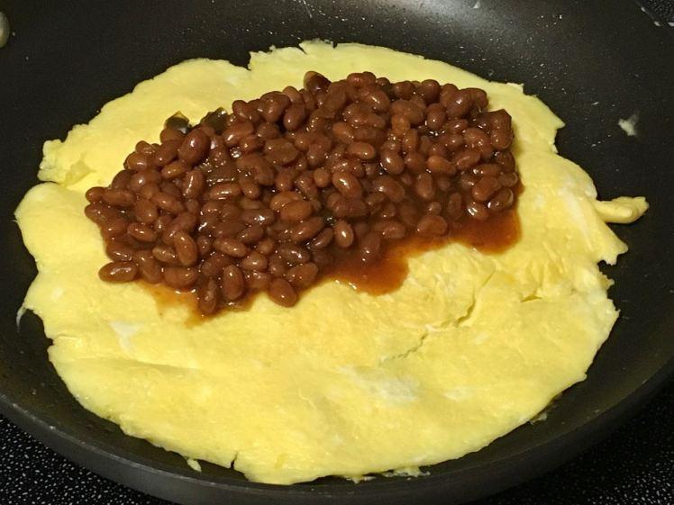 baked beans omelet
