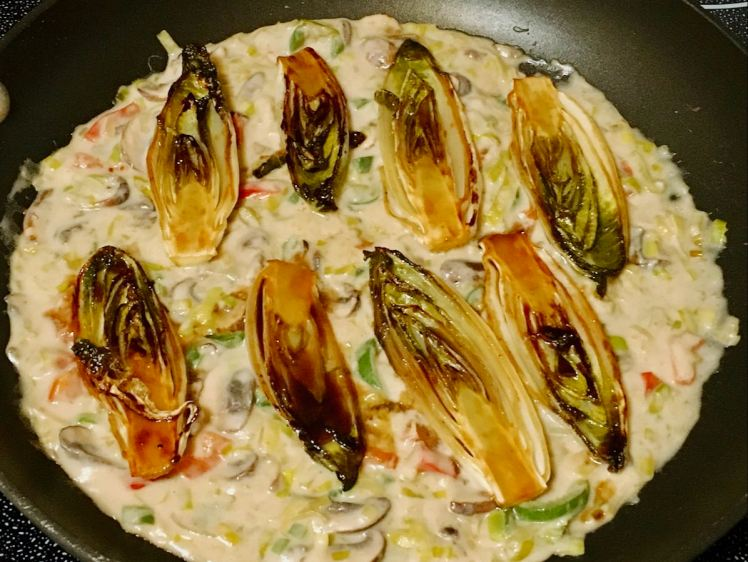 Belgian endive & mushrooms