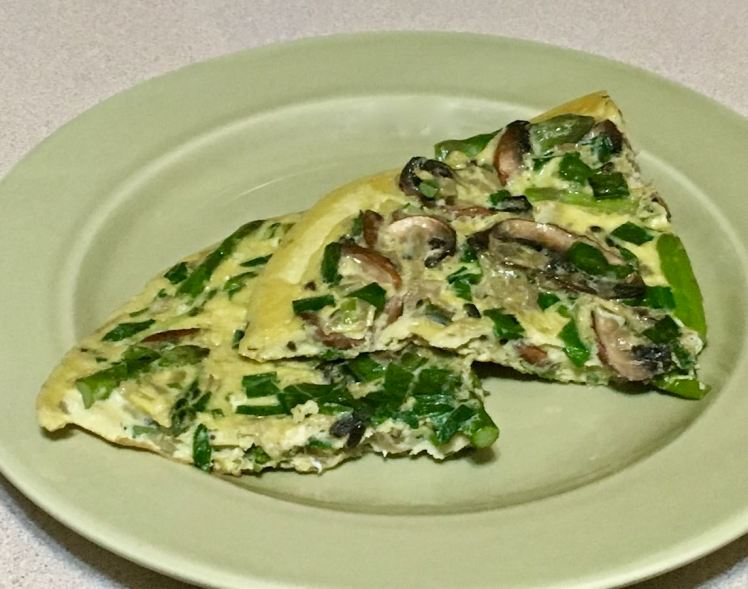 eggs with asparagas, mushrooms & ramps