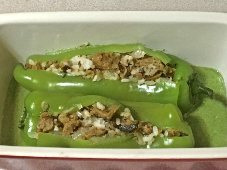 seitan stuffed peppers