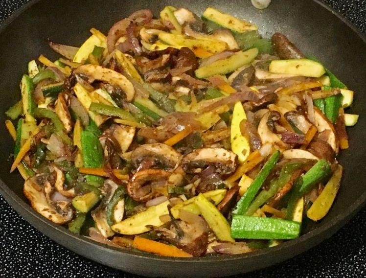 veggies in a tortilla