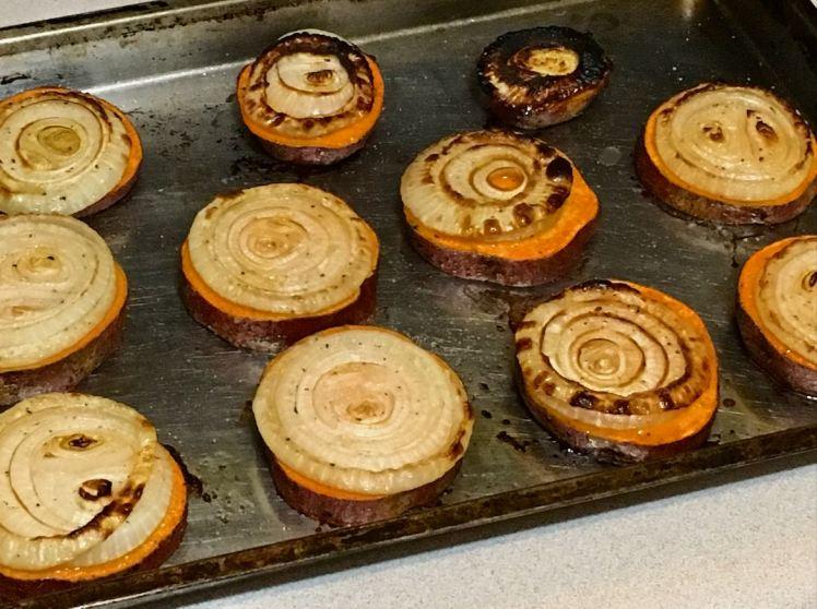 sweet potato, basil, purslane, ramps