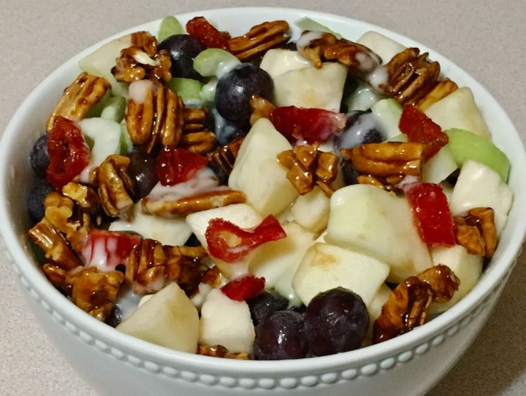 apple, grape, pecan salad