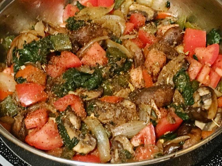 spinach & mushroom quesadilla