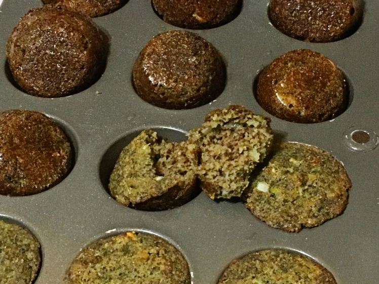 sprouted green chickpea nuggets