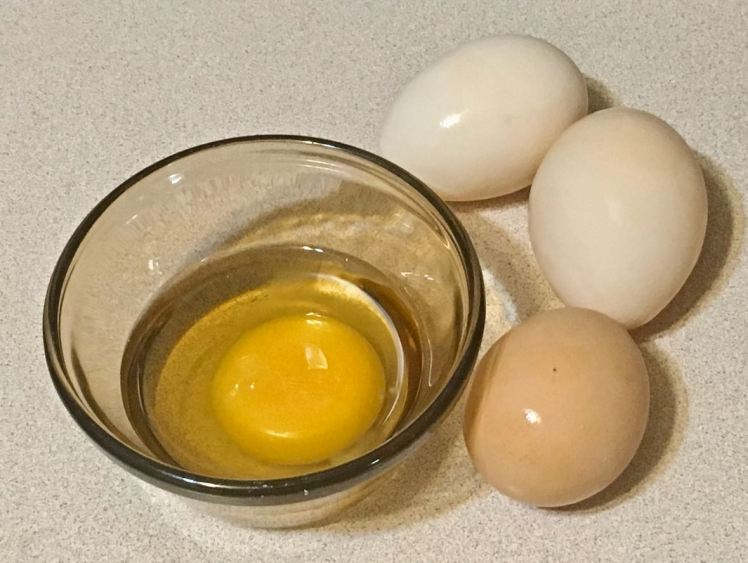 glassed eggs