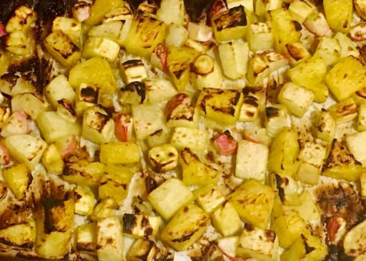 roasted jicama, parsnips, radishes & pineapple