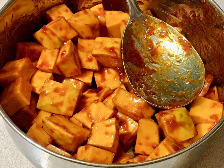 Sweet Chili Glazed Buttercup Squash Bowl